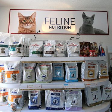 Feline nutrition food display
